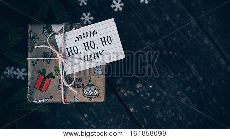 Merry Christmas HO-HO-HO and jingle bells (xmas)