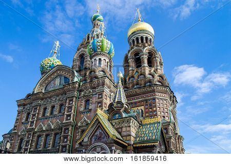 The Trip To Russia. Saint-petersburg. Church Of The Savior On Blood.