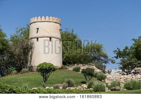 Sultan Qabus said fort fortress tower in Oman salalah