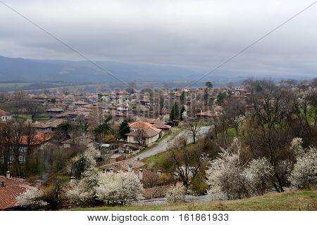 View of the village Jeravna. Bulgaria Europe. Balkan mountains