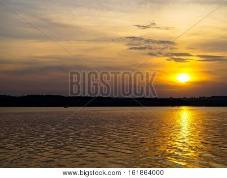 perfection is an extraordinarily beautiful sunset on the lake