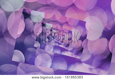 Purple kaleidoscope blurry abstract background.Digitally generated image