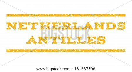Netherlands Antilles watermark stamp. Text tag between horizontal parallel lines with grunge design style. Rubber seal stamp with unclean texture.