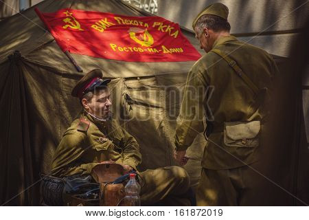 Historical Reenactment Of Wwii On May 9, 2016 In Kiev, Ukraine