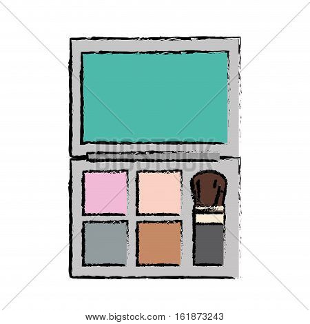 eyeshadow palette makeup equipment icon over white background. colorful design. vector ilustration