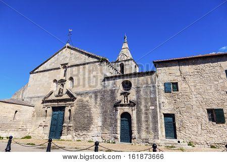 Notre Dame de la Major Church in Arles. Arles Bouches-du-Rhone France.