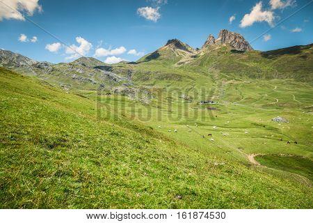 Pyrenees mountains frontera del Portalet Huesca Aragon Spain