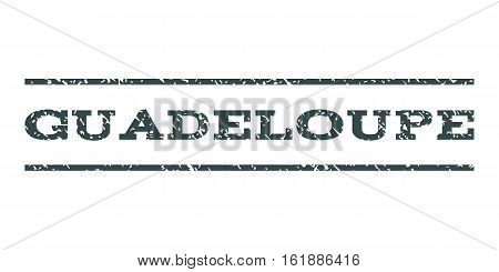 Guadeloupe watermark stamp. Text tag between horizontal parallel lines with grunge design style. Rubber seal stamp with unclean texture. Vector soft blue color ink imprint on a white background.