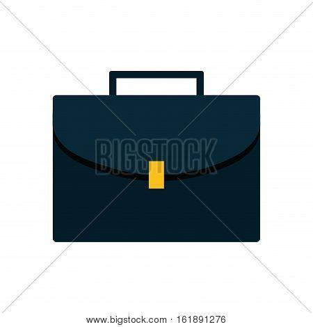 blue portfolio suitcase business icon vector illustration eps 10