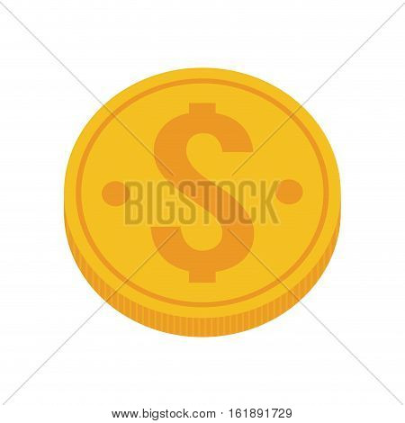 gold coin money dollar vector illustration eps 10