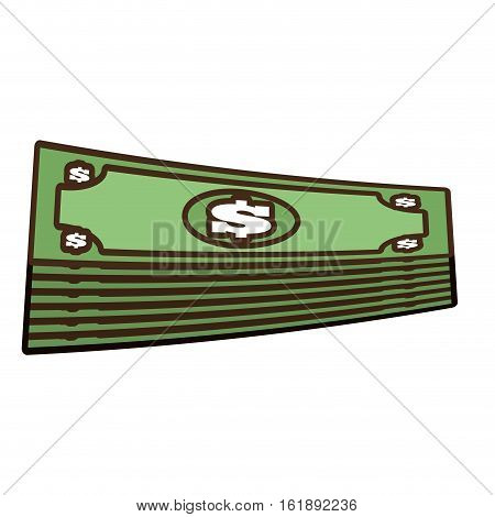 cartoon stacked bill money dollar vector illustration eps 10