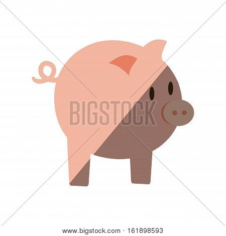 piggy money bank flat icon vector illustration eps 10