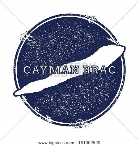 Cayman Brac Vector Map. Grunge Rubber Stamp With The Name And Map Of Island, Vector Illustration. Ca