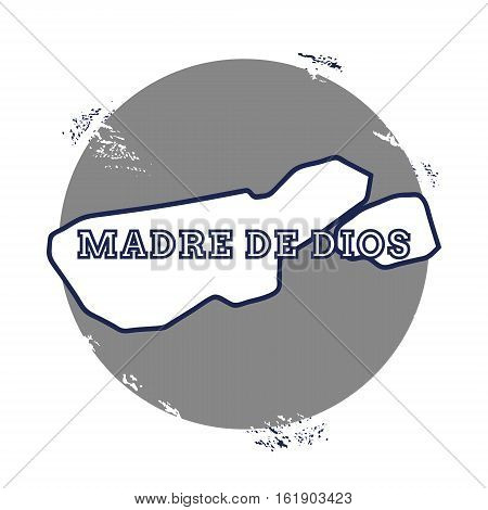Madre De Dios Island Vector Map. Grunge Rubber Stamp With The Name And Map Of Island, Vector Illustr