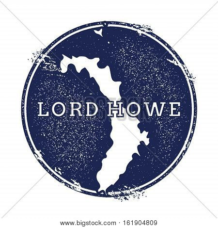 Lord Howe Island Vector Map. Grunge Rubber Stamp With The Name And Map Of Island, Vector Illustratio