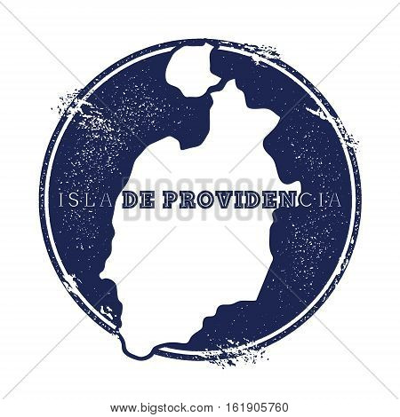 Isla De Providencia Vector Map. Grunge Rubber Stamp With The Name And Map Of Island, Vector Illustra