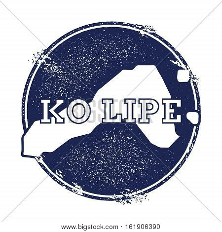 Ko Lipe Vector Map. Grunge Rubber Stamp With The Name And Map Of Island, Vector Illustration. Can Be