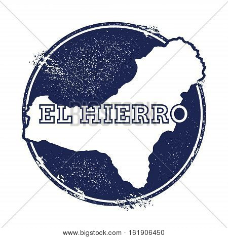 El Hierro Vector Map. Grunge Rubber Stamp With The Name And Map Of Island, Vector Illustration. Can