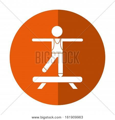 sportman artistic gymnastics shadow vector illustration eps 10