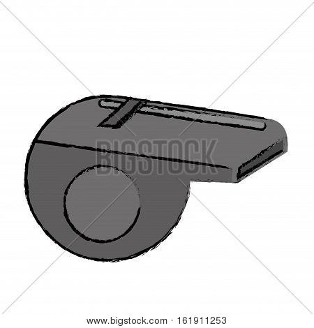 drawing american football whistle referee vector illustration eps 10