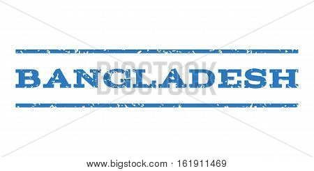 Bangladesh watermark stamp. Text tag between horizontal parallel lines with grunge design style. Rubber seal stamp with unclean texture. Vector smooth blue color ink imprint on a white background.