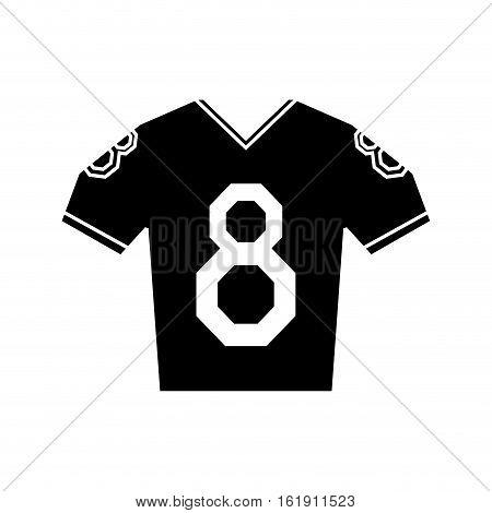 silhouette jersey american football tshirt uniform vector illustration eps 10