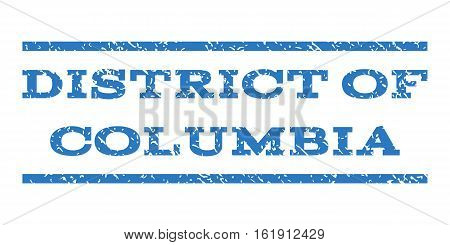 District Of Columbia watermark stamp. Text tag between horizontal parallel lines with grunge design style. Rubber seal stamp with unclean texture.