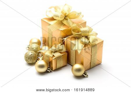 Christmas gift box isolate on white background
