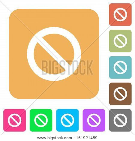 Blocked icons on rounded square vivid color backgrounds.