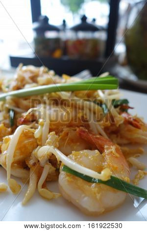 Traditional Thai Fried Noodles or Thai name is Pat Thai