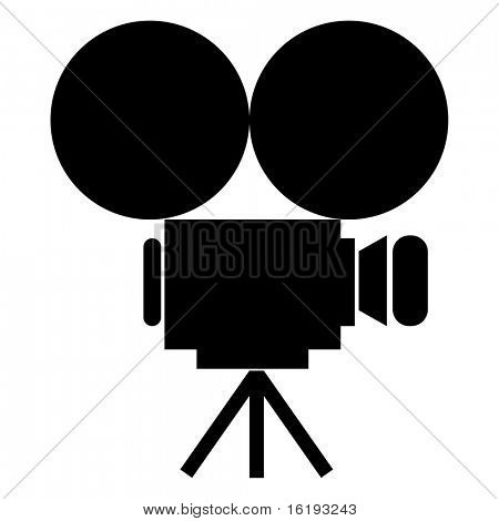 (raster image of vector) movie camera icon