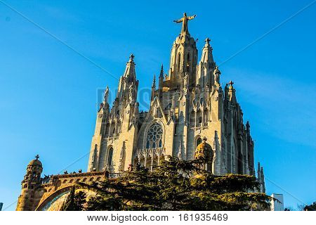 Hdr Sagrat Cor In Barcelona