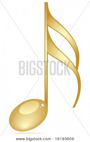 musical note golden color