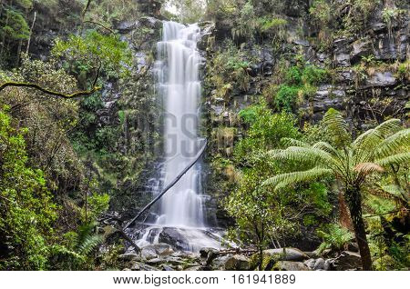 Erskine Falls On The Great Ocean Road, Australia