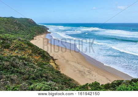 Secluded Beach On The Great Ocean Road, Australia