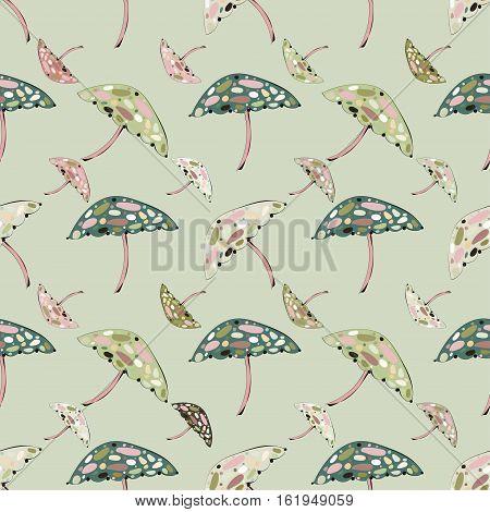 Abstract  mushroom seamless pattern background. Vector illustration.