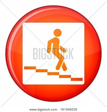Underpass road sign icon in red circle isolated on white background vector illustration