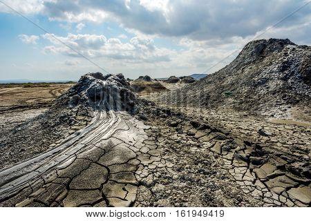 Mud Volcano Crater, Gobustan, Azerbaijan