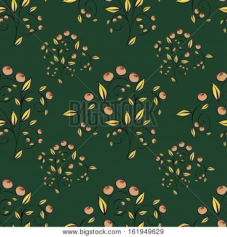 Berries Abstract seamless pattern. Vector illustration background.