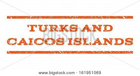 Turks and Caicos Islands watermark stamp. Text caption between horizontal parallel lines with grunge design style. Rubber seal stamp with dirty texture.