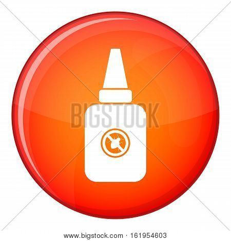Insect spray icon in red circle isolated on white background vector illustration
