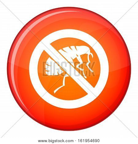 Etching insect icon in red circle isolated on white background vector illustration