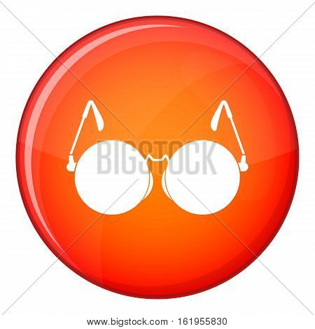 Glasses for blind icon in red circle isolated on white background vector illustration