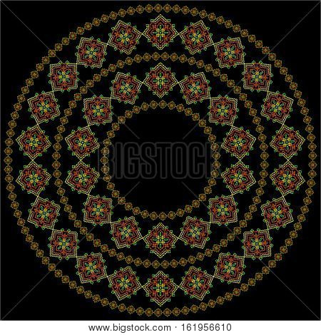Colorful mandala. Round mandala ornament. Anti-stress therapy mandala. Weave pattern mandala. Yoga mandala logo mandala meditation poster. Unusual geometry mandala. Mandala design element.