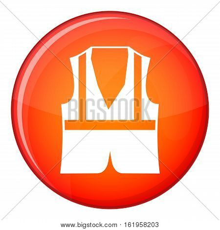 Vest icon in red circle isolated on white background vector illustration