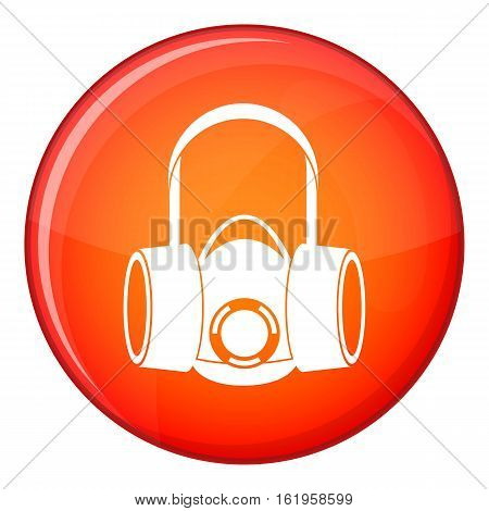 Respirator icon in red circle isolated on white background vector illustration