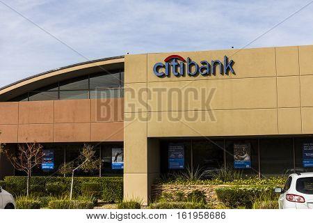 Las Vegas - Circa December 2016: Citibank Consumer Branch. Citibank Is The Consumer Division Of Fina