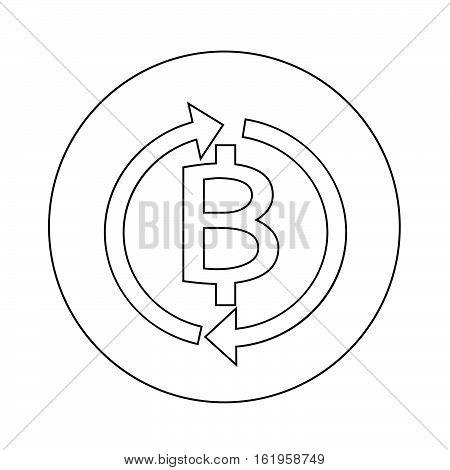 an images of Money Thai Bath Icon illustration design