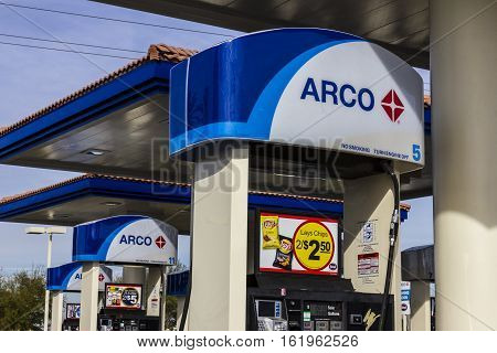 Las Vegas - Circa December 2016: Arco Retail Gas Station. Arco Is Part Of The Tesoro Corporation Ii