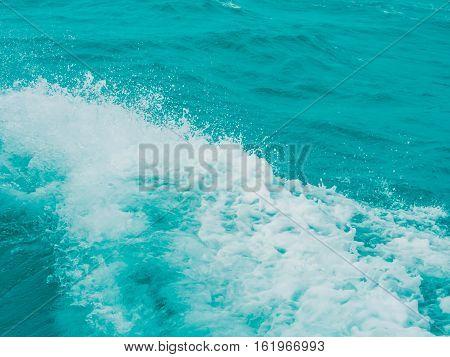 Splashing Water In The Sea